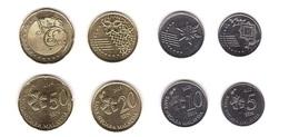 Malaysia - Set 4 Coins 5 10 20 50 Sen 2012 - 2014 UNC Lemberg-Zp - Malaysia