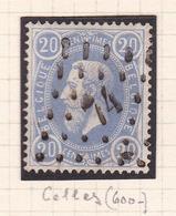 Belgique - COB 31 Tirage A - Bleu Obl. Celles - 1869-1883 Leopold II.