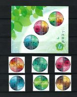 2020 HONG KONG 24 Solar Terms-spring STAMP 2 SETS+MS - Unused Stamps