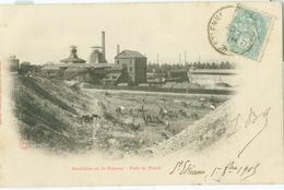 Houillères De Saint-Etienne 1909; Puits Du Travail - Voyagé. (Nouvelle Galeries, St-Etienne) - Saint Etienne