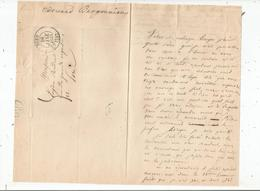 BERGOUNIOUX EDOUARD (SEES(61) 1805. MORT EN 1872) ECRIVAIN LETTRE A SIGNATURE 1833 - Handtekening