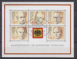 BRD Block 18, Gestempelt: ESST BONN, Bundespräsidenten Der Bundesrepublik Deutschland 1982 - [7] République Fédérale