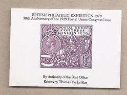 Regno Unito - Francobollo Erinnofilo Emesso Per I 50° Anniversario Dell'emissione Del Congresso UPU Del 1929 - 1979 * G - Variétés, Erreurs & Curiosités