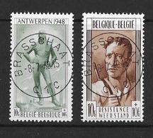 België/Belgique 1948 - 785/86 - Central Afgestempeld - De Bevrijding - La Libération - Oblitéré Central - Belgium