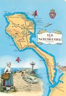 Ile De Noirmoutier - Carte Geographique     AO 582 - Ile De Noirmoutier