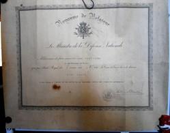 Diplôme D'attribution De La Croix De Guerre Avec Palme Royaume De Belgique - 1914-18