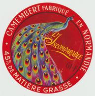 Etiquette Fromage:  R3 : Camembert :  Le  Paon - Käse