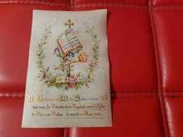 Image Pieuse  Chromo Fait Main Benediction Nuptiale Riec Sur Belon Mardi 12 Mai 1903 - Images Religieuses