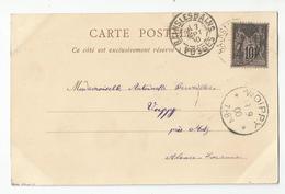 Marcophilie Cachet 1900 Bains Les Bains 88 Vosges Pour Voippy Près Metz Alsace Lorraine ( 57 Moselle ) - Marcophilie (Lettres)