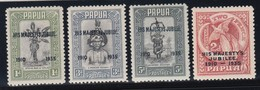 PAPUA  1935 SILVER JUBILEE  SG 150/153  MLH CV £19 - Papua New Guinea