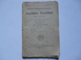 REVUE INTERNATIONALE DES SOCIETES SECRETES - Geheimleer