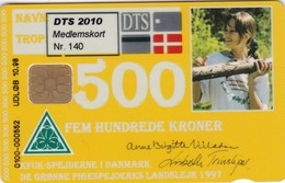 Denmark, MEM-2010, DTS Membershipcard 2010, Only150 Issued, 2 Scans.  Overprinted On DD149 500 Kr Yellow Scout Card - Danemark