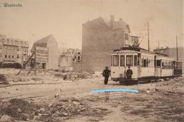 PHOTO AU DEPART D'UNE CPA WESTENDE TRAM REPRO - Tramways
