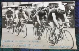 Cyclisme  : Photo De Presse  Bobet, Dupont, Varnajo, Gauthier  Au Critérium Nations 1952 - Cyclisme