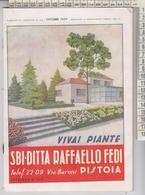 PISTOIA VIVAI PIANTE SBI-DITTA RAFFAELLO FEDI CATALOGO 1959 - Autres