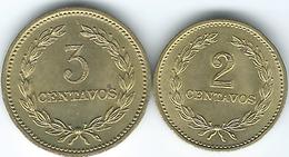 El Salvador - 1974 - 2 (KM147) & 3 Centavos (KM148) - El Salvador