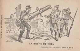 L5- CARTE SATIRIQUE - LA BUCHE DE NOËL  -  ILLUSTRATEUR A. DUBRAY - CARTE PUB PHOSCAO - (2 SCANS) - Humoristiques