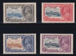 GILBERT & ELLICE ISLANDS 1935 SILVER JUBILEE  SG 36/39  MLH CV £32 - Gilbert & Ellice Islands (...-1979)