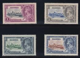 MAURITIUS 1935 SILVER JUBILEE  SG 245/48  MLH CV £35 - Mauritius (...-1967)