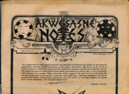 AKWESASNE NOTES (Late 1982) Volume 14, Numéro 5, Newspaper Indian, Journal Indien, Mohwak, Ontario, New-York, 36 Pages - Histoire