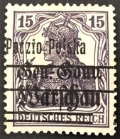 Poland 1918 Error Paczto In Provisional Overprint Michel 10/ Fi 12 - ....-1919 Übergangsregierung