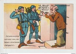 CPA  LE BILLET  DE LOGEMENT - Umoristiche