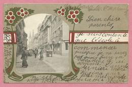 67 - STRASSBURG - STRASBOURG - Carte Fantaisie Style ART NOUVEAU - Grand Rue - Strasbourg
