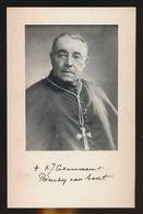 MONSEIGNEUR KAREL CALEWAERT  27 Ste BISSCHOP GENT - DEINZE 1893 - GENT 1963  2 SCANS - Verlobung