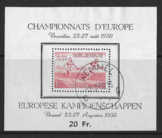 België/Belgique 1950 - BL29 - Mooie Afstempeling - Atletiek - Athlétisme - Belle Oblitération. - Blocks & Sheetlets 1924-1960