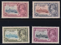 BRITISH SOLOMON ISLANDS  1935 SILVER JUBILEE   SG 53/56  MLH   CV £28 - British Solomon Islands (...-1978)
