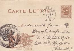 """Correspondance Militaire / Franchise Militaire. """" Honneur à Notre 75"""". - Franchise Militaire (timbres)"""