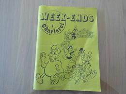 Pochette Humoristique BD Documents Visites Touristiques Week-ends à Charleroi Documentation - Charleroi