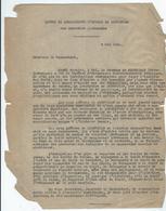 Brouillon Dactylographié De La Lettre De Monseigneur L'Evêque De Montauban Aux Autorités Allemandes Du 6 Mai 1944 Au - Historical Documents