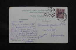 SINGAPOUR - Affranchissement Plaisant De Singapore Sur Carte Postale En 1908 Pour La France - L 58012 - Singapore (...-1959)