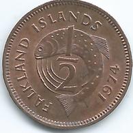 Falkland Islands - 1974 - Elizabeth II - ½ Penny - KM1 - Falkland