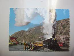 Carte Postale Train Locomotive à Vapeur N°476 - Trains