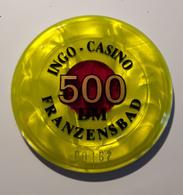 [NC] FRANZENSBAD - INGO Casinò - JETON / CHIP / FICHE / TOKEN Da 500 Deutsche Mark - Casino