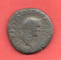PIECE ROMAINE IDENTIFIER , Cuivre , Diam: 28 Mm , Poids: 9.77 Gr - 3. Les Antonins (96 à 192)