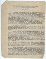 Compte Rendu Dactylographié Des évènements Qui Se Sont Déroulés Le Samedi 10 Juin 1944 à ORADOUR-sur-GLANE - Documents Historiques