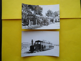 Photo Geiger,  Tramway  Cap Ferret ,embarquement Et Terminus Océan - Trains