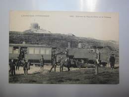 Carte Postale Sommet Du Puy De Dôme Et Le Tramway - Tramways