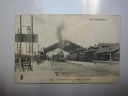 Carte Postale Gare De Saint Germain Des Fossés Allier - Gares - Avec Trains