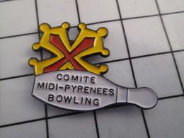 1116c Pin's Pins / Beau Et Rare / THEME : SPORTS / BOWLING QUILLE CROIX OCCITANE COMITE MIDI PYRENEES - Bowling