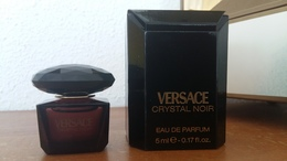 ACHAT IMMEDIAT;;;;MINIATURE CRYSTAL VOIR - VERSACE - 5 ML EAU DE PARFUM - Miniatures Men's Fragrances (in Box)