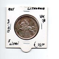 LITOUWEN 5 LITAI 1925 - Lithuania