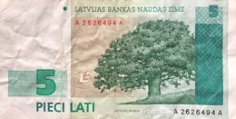 Latvia 5 Lati, P-43 (1992) - Fine - Lettonie