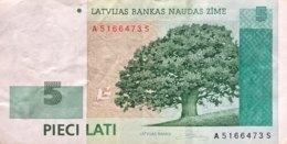 Latvia 5 Lati, P-53a (2006) - Very Fine - Letonia