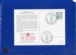 ##(DAN204)-Italia 1995-Milano, 50° Liberazione Annullo Speciale Su Cartolina Commemorativa-tematica Resistenza - 6. 1946-.. Repubblica