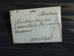 D1 -  Lettre De Gisors Au Commissaire Des Poudres Au Mans - Marque Postale Manuscrite Gisors - Marcophilie (Lettres)