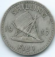Fiji - George VI - 1937 - 1 Shilling - KM9 - Only 40,000 Minted - Fiji